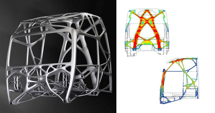 The final form of a structure after its simulation.