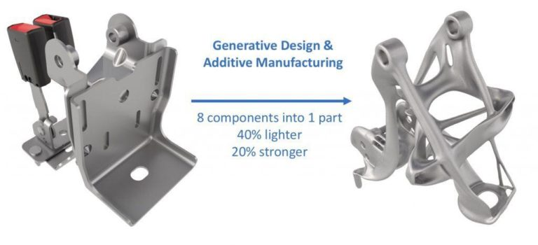 The creation of a unique part from an assembly with improved properties and functionality.